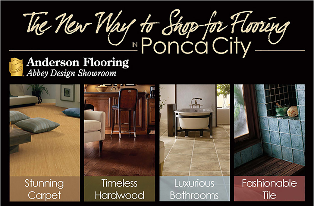 The New Way to Shop for Flooring in Ponca City.  Anderson Flooring Abbey Design Showroom.